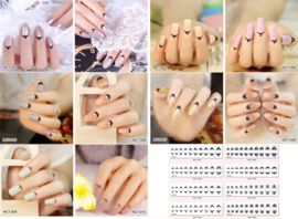 hele set cuticle tattoos 8 stuks