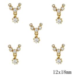 crystal deco (1) 5 stuks