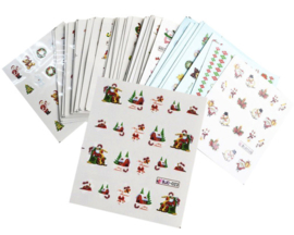 10 kerst water decal stickers