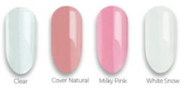 polygel hard shape milky pink