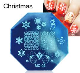 image plate kerst MC02
