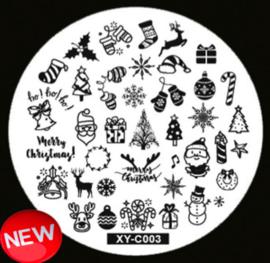 kerst plate XY-C003