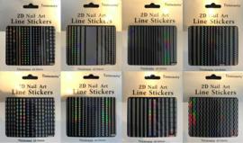 monochromate sticker serie 8 stuks