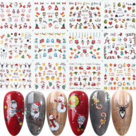 12 kerst water decals serie (A2)
