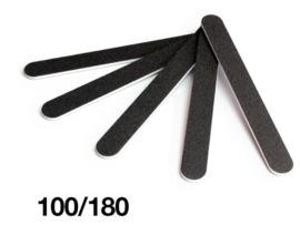 zwarte vijl  recht zwart  100/180 grit standaard 5 stuks