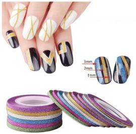 voorbeeld striping tape glitter