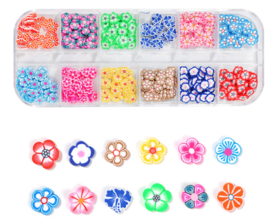 box fimo flower inlay