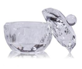 dappendish glas met dekseltje