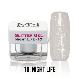 10 glitter night life gel