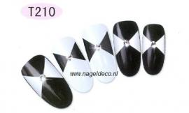 nagel sticker T210 black&white