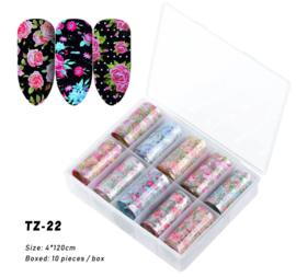 transferfolie box flowers 22