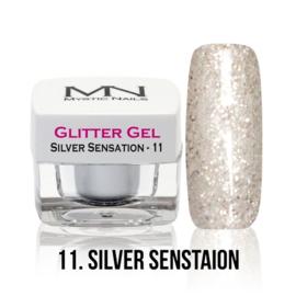 11 glitter silver sensation
