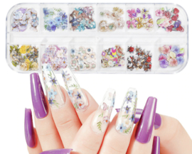 nail art box flowers