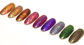 holo laser glitter poeder 12 kleuren