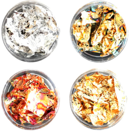 bladfolie goud - zilver -  multi goud - copper (zelf kiezen)