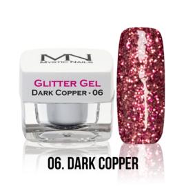6 glitter dark copper gel