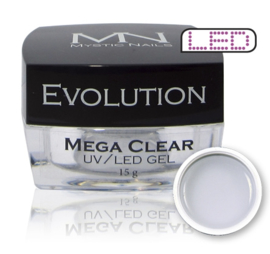 Builder gel Evolution Mega Clear 15 gram MN