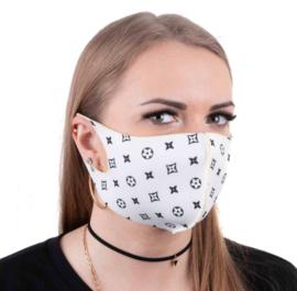 herbruikbaar neopreenschuim mondkapje masker deco wit maat L / XL 1 st