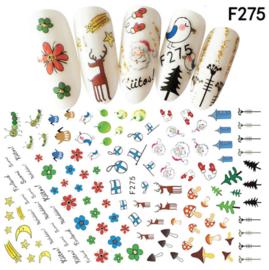 kerst sticker F275