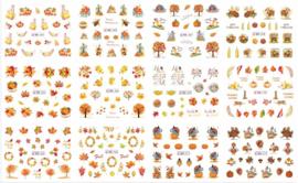 herfst - kerst decal set