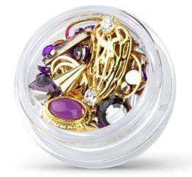 gold mix  violet