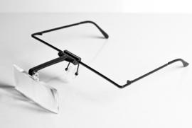 vergroot bril met 3 wisselbare lenzen