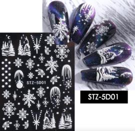 kerst sticker 5D01