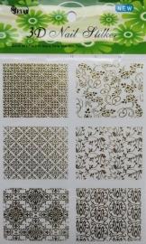 3d nail stickersheet 2 goud