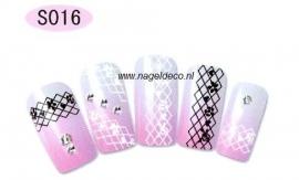 nagel sticker S016 black&white