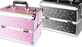 nagelkoffer  kleur pink of zwart (medium)