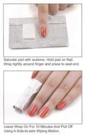 foil nail wraps 100 stuks