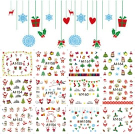 12 kerst water decals serie (A1)