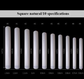 square tips extra lang natural