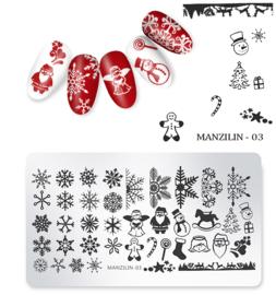 stempel plaatje kerst MZ 03