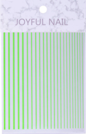 flexible stripes fluor green