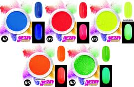 neon pigment poeder set 5 kleuren