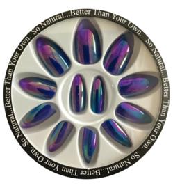 chrome full cover tip blue/purple