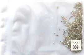 glas steentjes crystal AB ss3 1440 stuks
