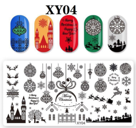 kerst image plate XY04