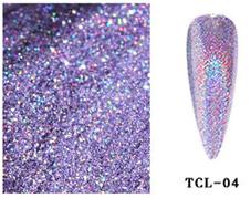 holografische laser glitter purple 04