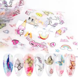 set transferfolie butterfly unicorn