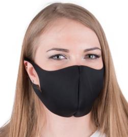 herbruikbaar neopreenschuim mondkapje masker zwart maat L / XL 1 st
