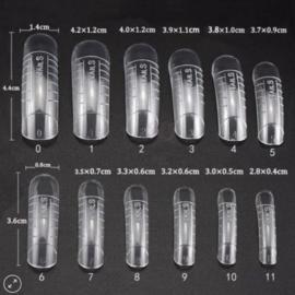 dual form tips (nails) 120 stuks - demofilm