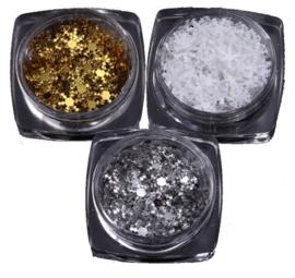 snowflakes zilver-goud-of wit