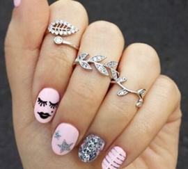 set van 3 stuks vinger ringen zilver  (alleen gratis volgens de vermelde voorwaarden)