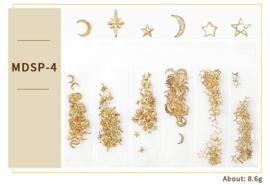 nagelsieraden metal flakes six pack nr. 4