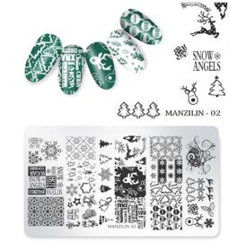 stempel plaatje kerst MZ 02