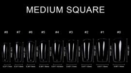 soft gel tips 550 st. medium square