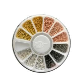 bullion beads 3 maten 4 kleuren