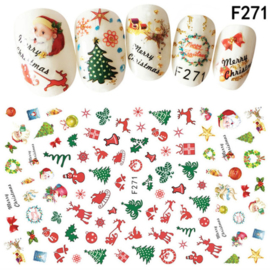 kerst sticker F271